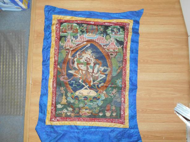 Tibetan Spiritual Tapestry painted wall hanging