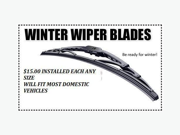 NEW WINDSHEILD WIPERS $15.00 ANY SIZE