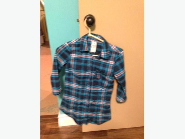 blue plaid garage shirt
