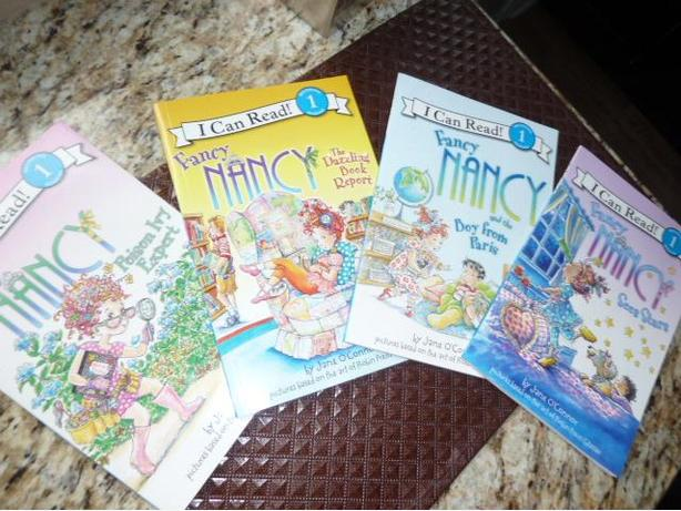 Collection of 4 Fancy Nancy I Can Read Series 1