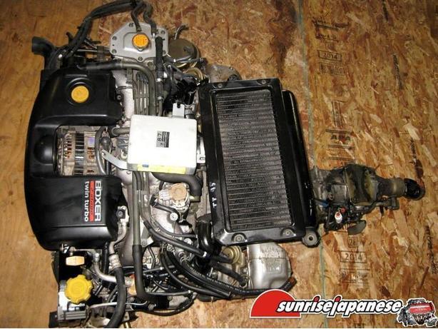 JDM EJ20H TWIN TURBO 2.0L ENGINE & 5-SPEED TRANSMISSION 94-99 LEGACY GT BG5 BD5