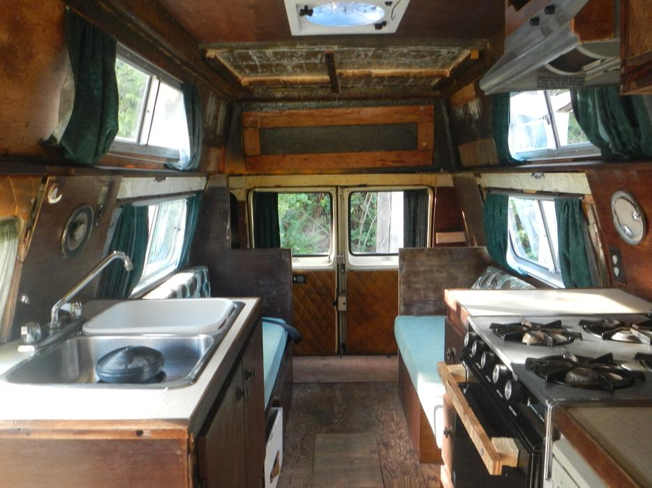 1982 Dodge 250 Camper Van Project Vehicle Outside Nanaimo