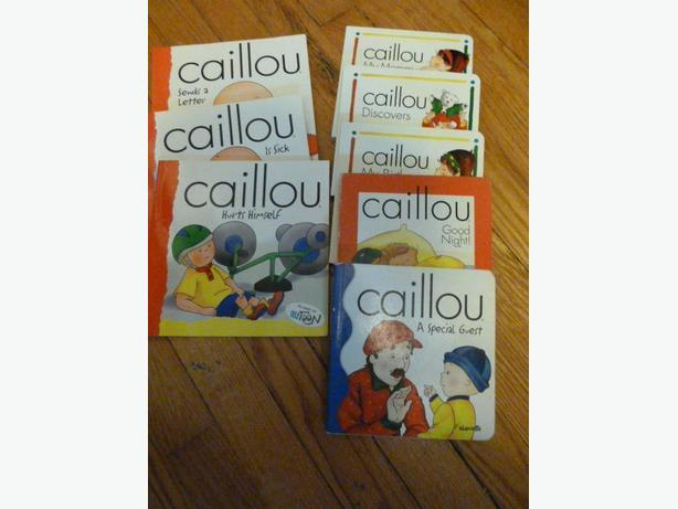 Collection of 8 Caillou Books in ENGLISH