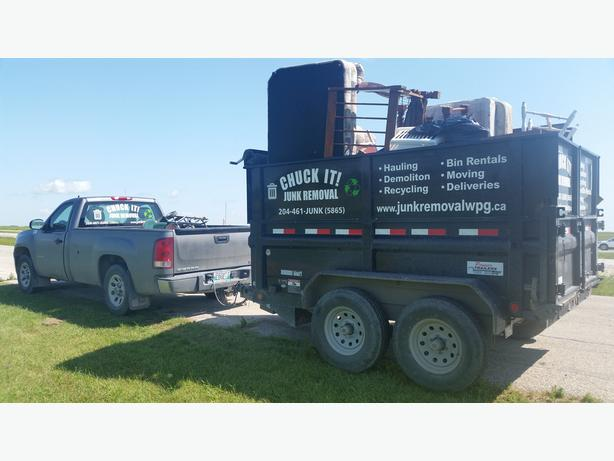 Junk Removal in Winnipeg Today | Chuck It! | 204-461-5865