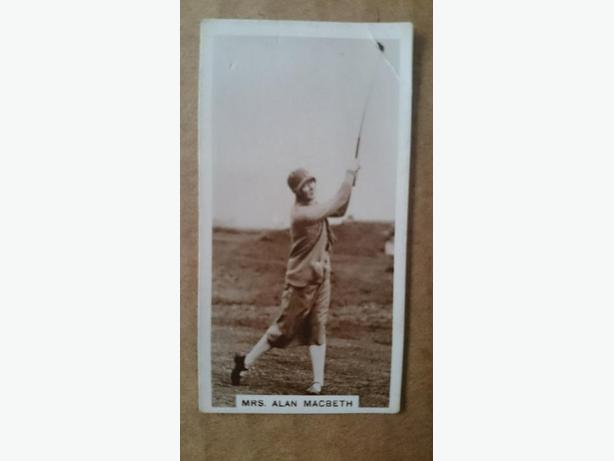 1928 De Reszke cigarettes golf card