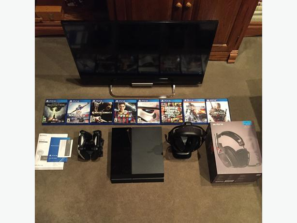 sony tv with ps4. ps4/astro a50/sony tv - ultimate gaming bundle! open to offers! sony tv with ps4