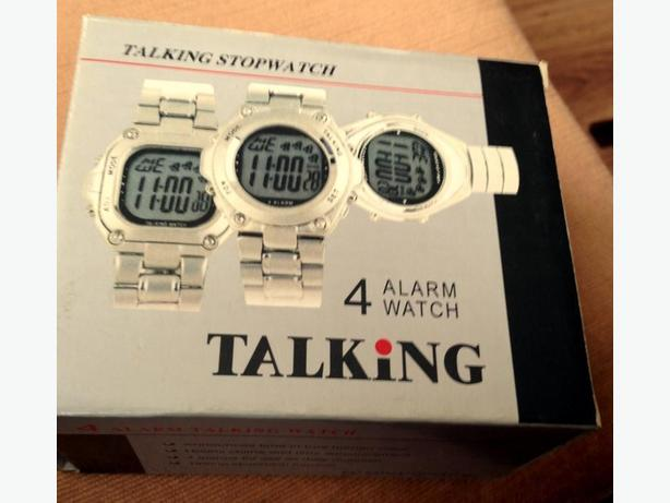 NEW TALKING 4 ALARM WATCH