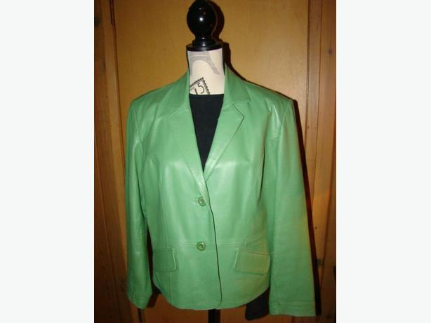 Ladies Apple Green Size Large Leather Jacket