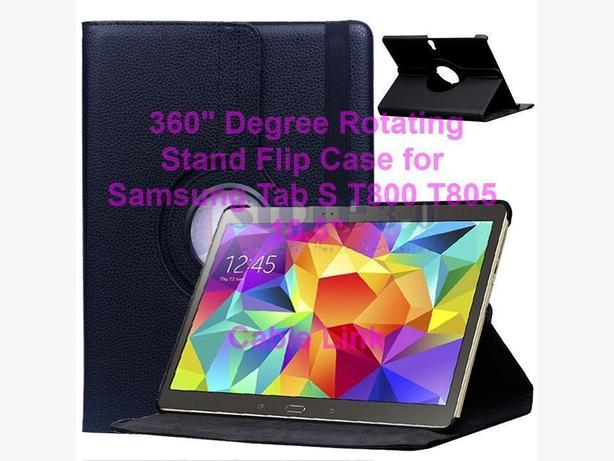 360° Rotating PU Leather Stand Case For Samsung Tab S T800 T805