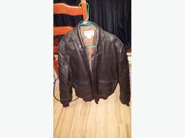 made in the usa leather flight jacket