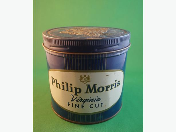 4u2c PHILIP MORRIS TIN 4 1/4 BY 3 INCHES HIGH