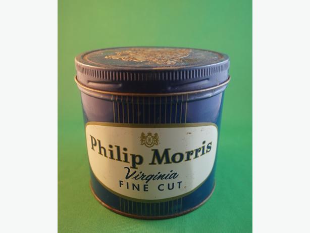 4u2c PHILIP MORRIS TIN 4 1/4 BY 3 INCHES HIGH