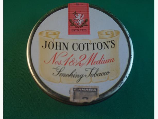4u2c VINTAGE JOHN COTTON TIN