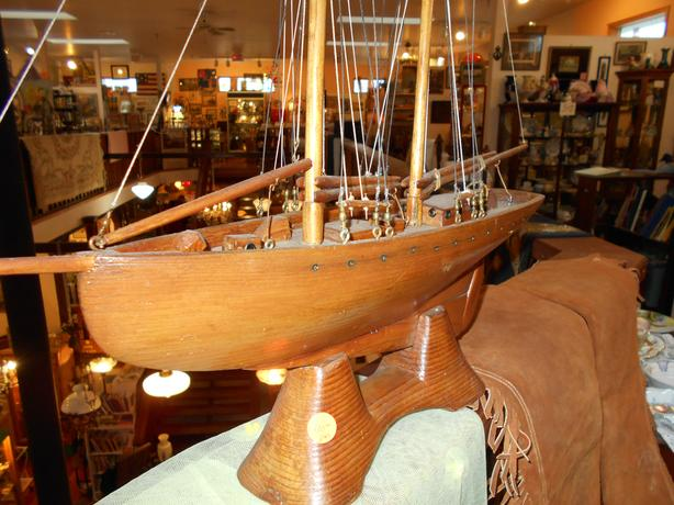 Hand carved boat