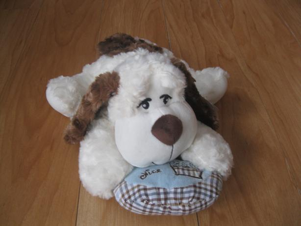 BRAND NEW Sugar Bear Stuffed Dog with Pillow