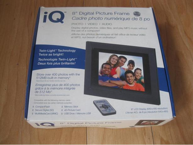 "NEW IQ Digital 8"" picture frame"
