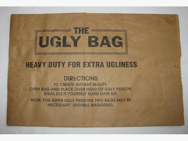 Vintage 1980's Original Collectible Ugly Bag