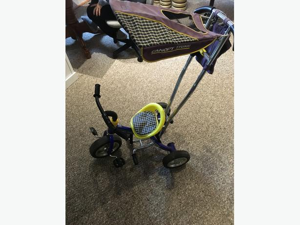 Huffy Canopy Trike Push Stroller Tricycle