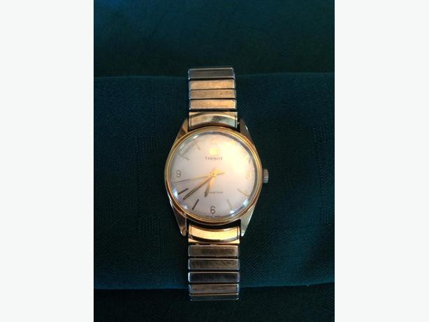 Vintage TISSOT Seastar Gold watch and band