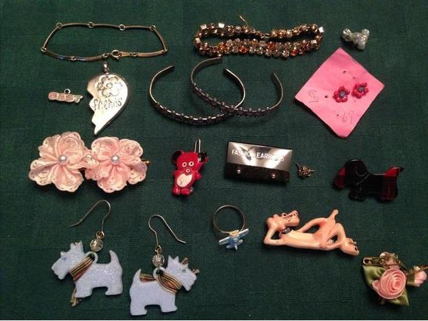 Earring, bracelet and broach Grab Bag
