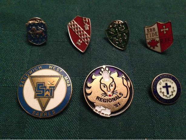 Various Crests and Pins starting at $5