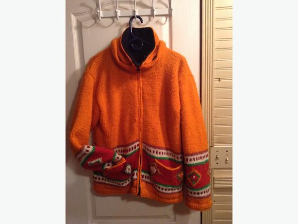 Colourful, knitted wool jacket from Nepal