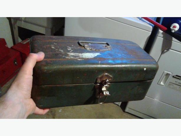 Small green toolbox