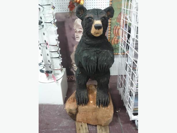 Carved Black Bear