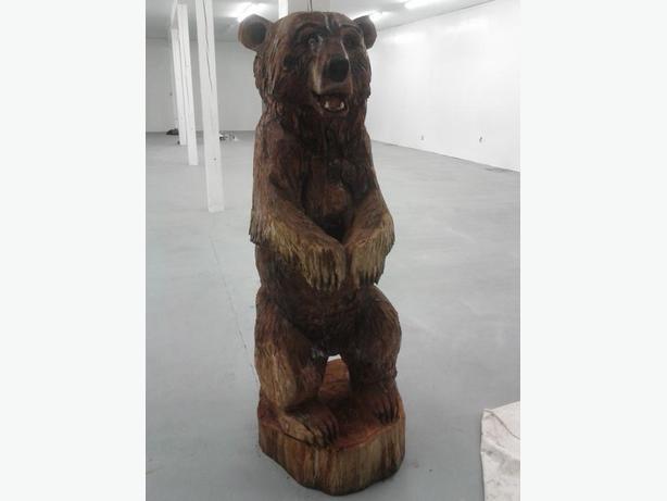 6 Foot Carved Cedar Bear