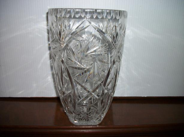 Large Heavy Pinwheel Crystal Vase East Regina Regina