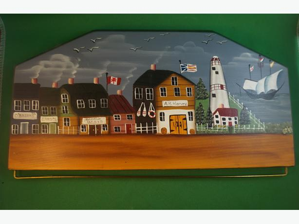 4U2C  FOLK ART NEWFOUNDLAND WALL HANGING SIGNED SYLVIE 99