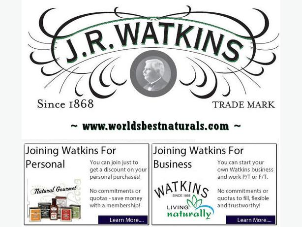 Start your own Watkins Business for only $19.95