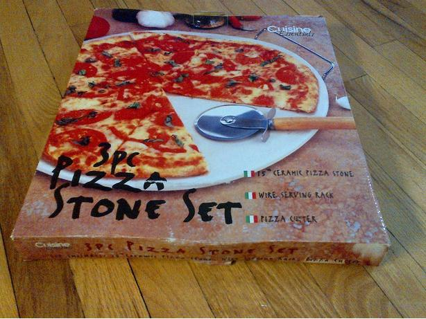 "NEW CUISINE ESSENTIALS 3 PIECE 15"" WHITE CERAMIC PIZZA STONE SET"