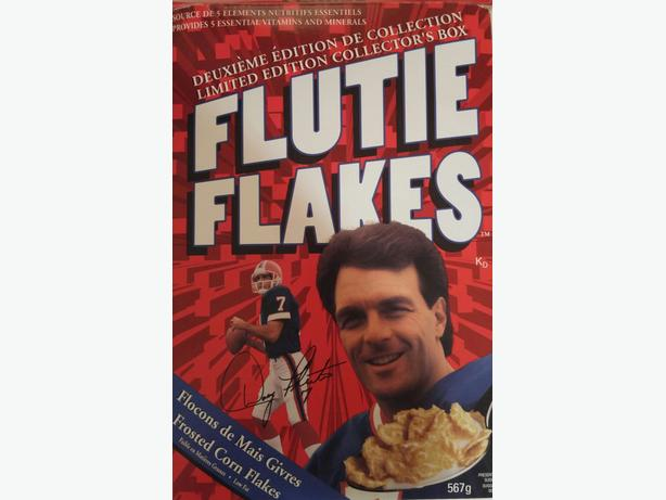 Flutie Flakes Cereal Box