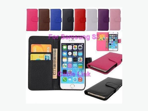 Flip Magnetic Stand Wallet Case for Samsung S3
