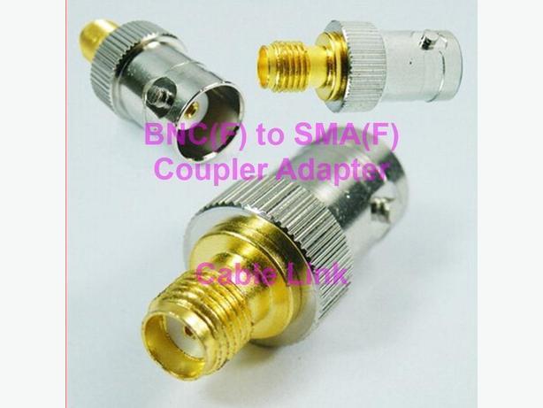 RF Coaxial SMA (F) to BNC (F) F/F Coupler Adapter