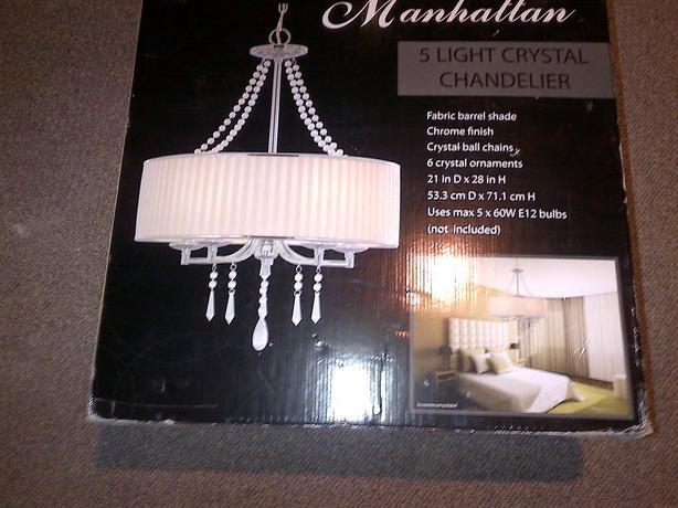 Manhattan 5 light ceiling crystal chandelier light fixture orleans manhattan 5 light ceiling crystal chandelier light fixture mozeypictures Choice Image