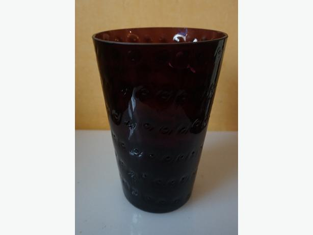4u2c VINTAGE DECORATIVE AMETHYST GLASS PURPLE VASE