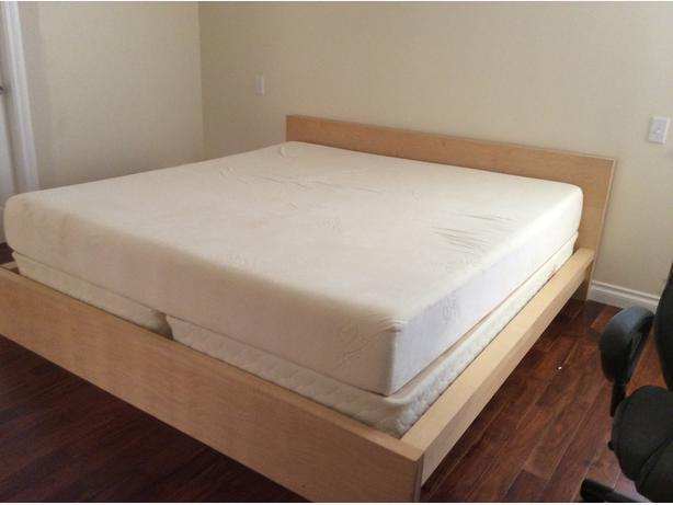 As new ikea malm king size bed frame victoria city victoria for Ikea malm bed low