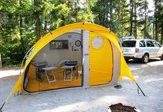 Tent for tab trailer west shore langford colwood for Small 3 room tent