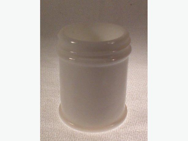 Milk glass pharmacy jar
