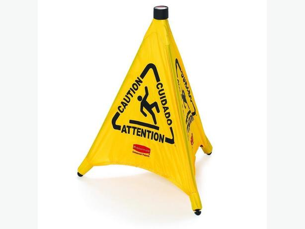 Rubbermaid Commercial Pop-Up Safety Cone WET FLOOR  - Yellow