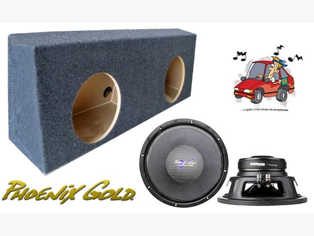 Subwoofers c/w Box ~ Dual 10-inch