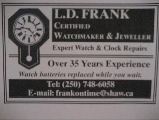 WATCH & CLOCK REPAIRS
