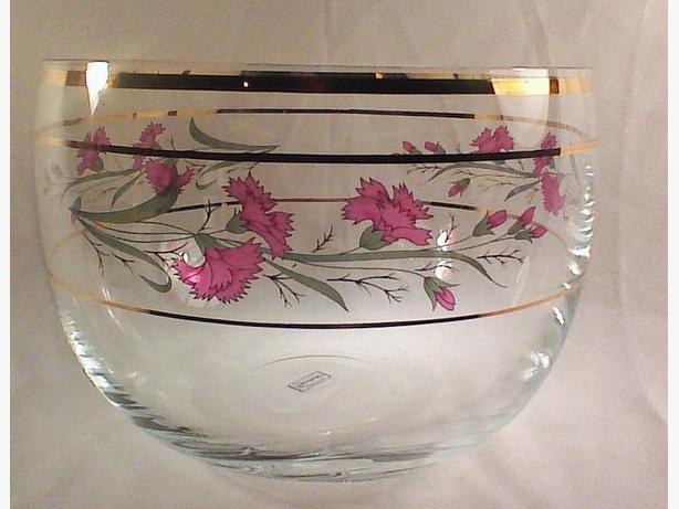 Bohemia Crystalex bowl vase