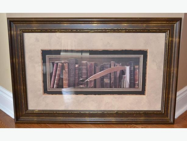 really nice print with books framed in great condition