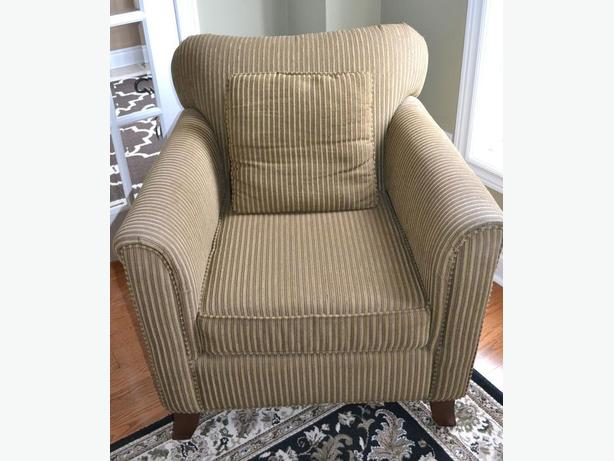 really nice accent chair stripped