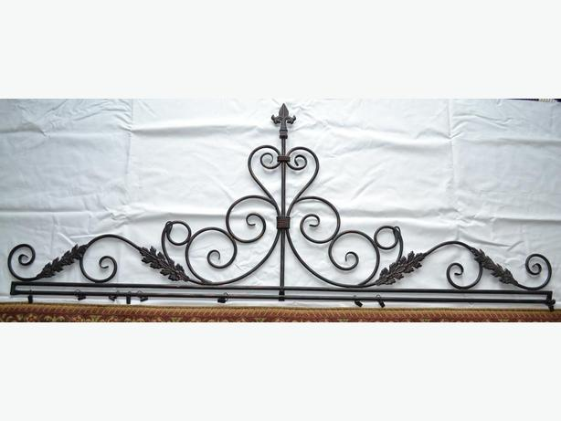 decorative wrought iron to hang tapestry