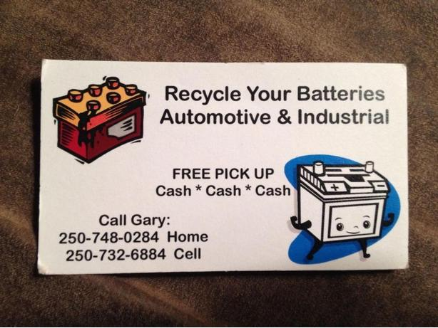 WE PAY CASH FOR YOUR AUTOMOTIVE BATTERIES