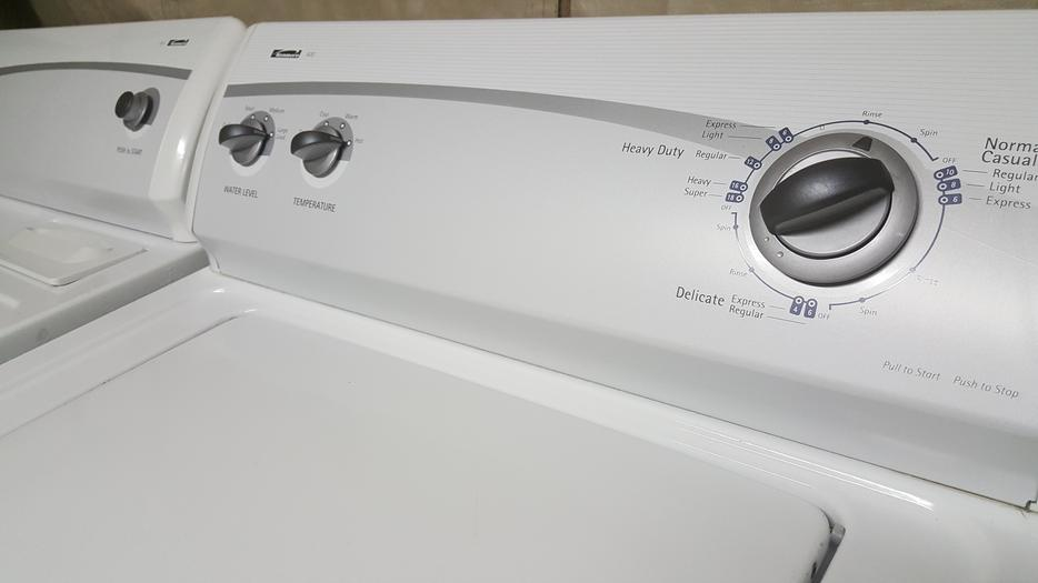 Kenmore 400 Series Super Capacity Plus Washer Dryer Set In